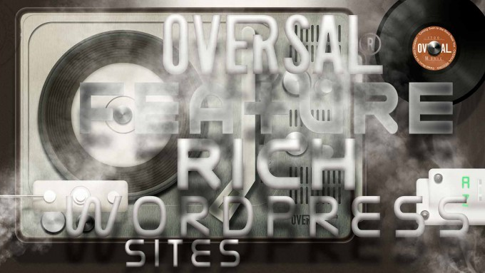Old fashioned record player and other music devices - Feature rich wordpress sites - Oversal-