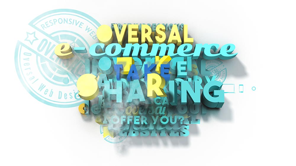 Juxtapose with colourful 3D text - Analytics sharing - Oversal