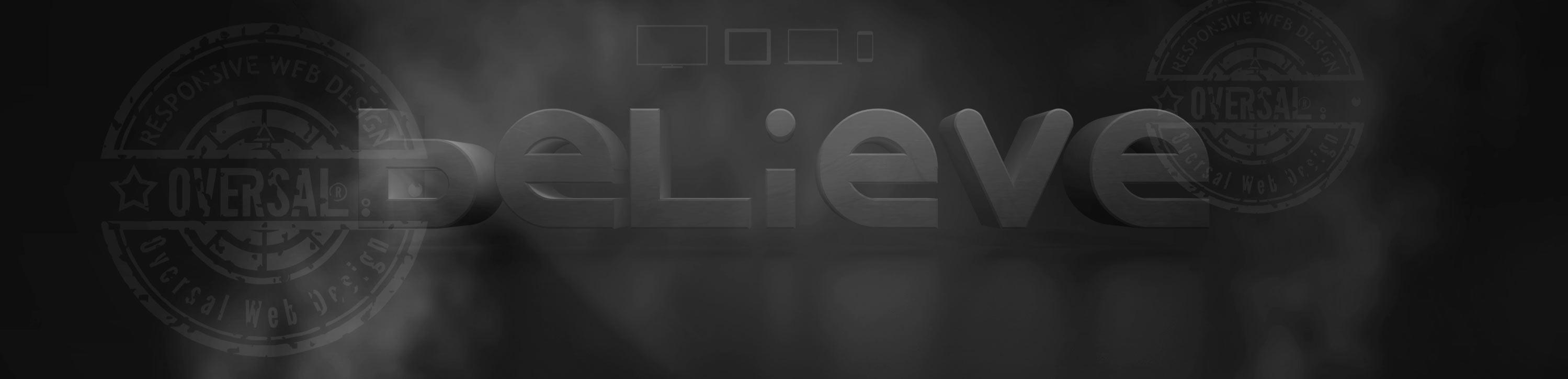 Dark 3D composite - Believe - Oversal