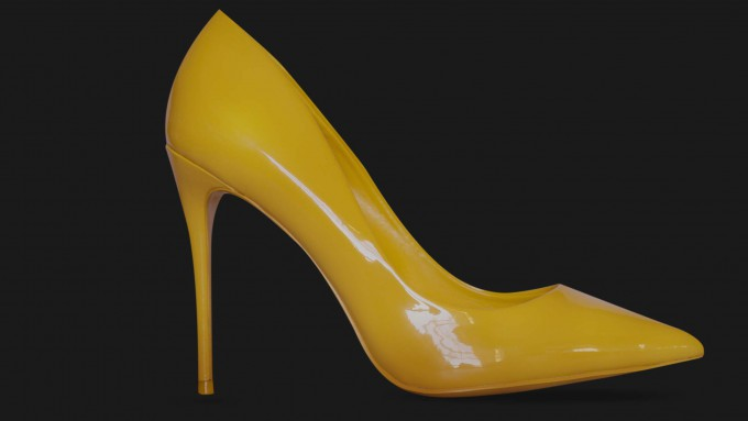 High heel fashionable yellow shoes Oversal