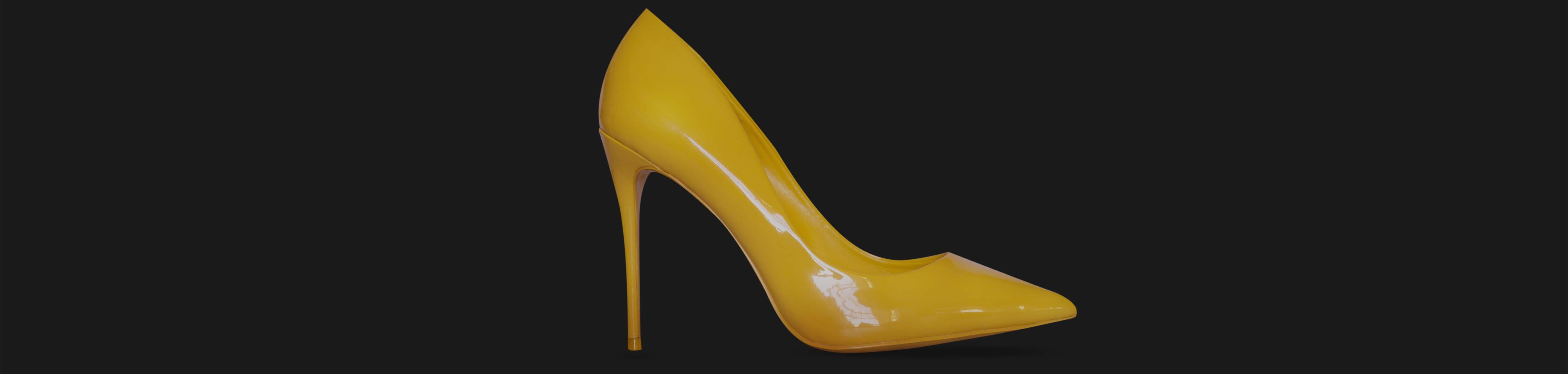 High heel fashionable yellow shoes Oversal