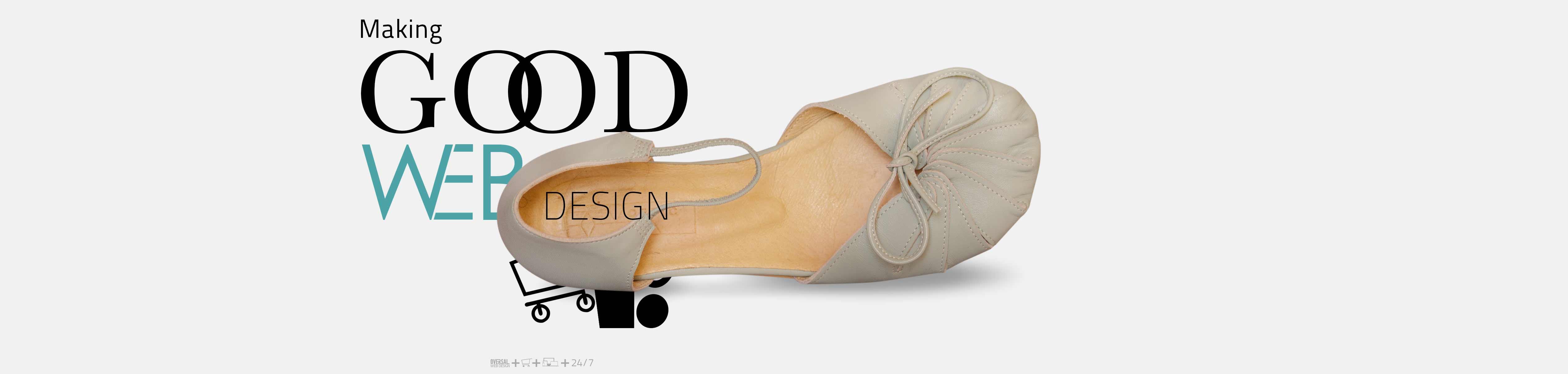 Light green pastel shoes, making good web design Oversal