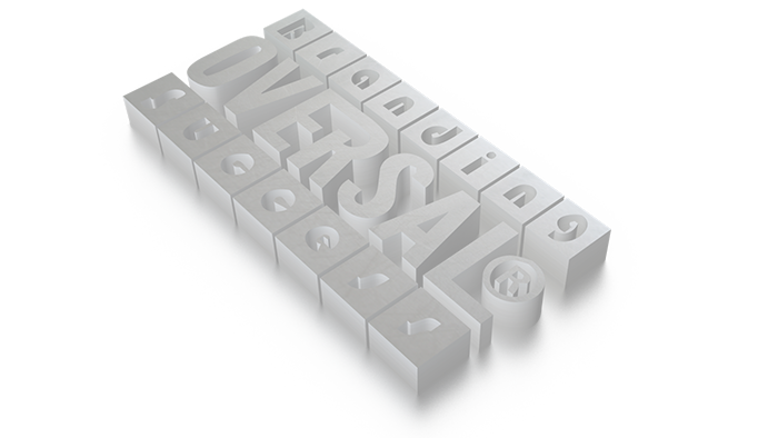 3D graphic with branding success message
