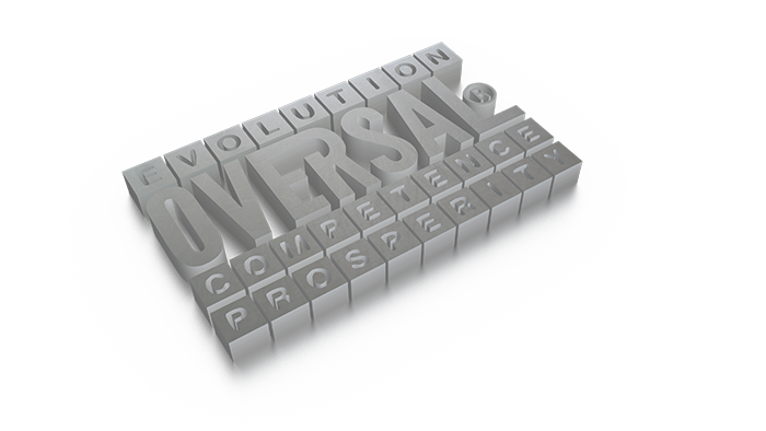 3D graphic with prosperity message