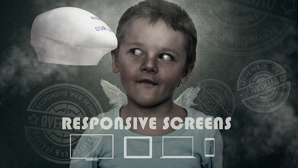 LIttle boy with angel wings - Responsive screens - Oversal