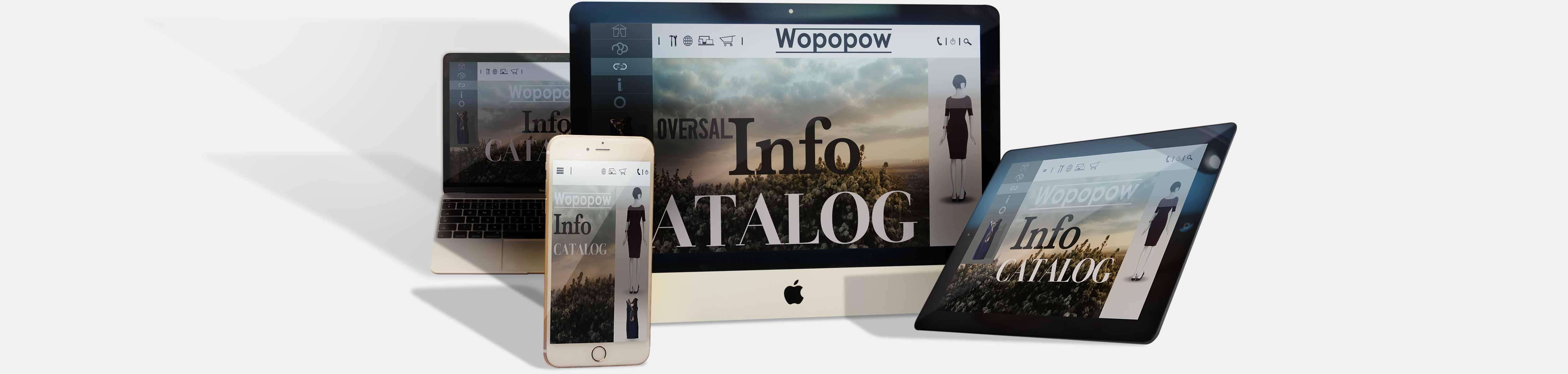 iPhone tablet laptop and desktop showing Oversal responsive web design capabilities