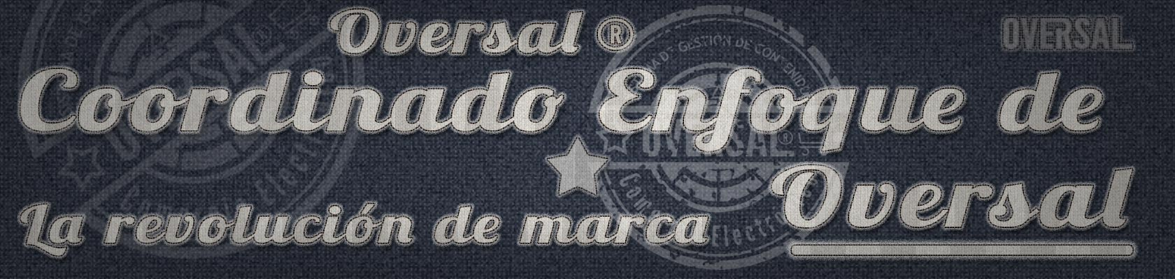 Fabric text and seal - Coordinado enfoque - Oversal