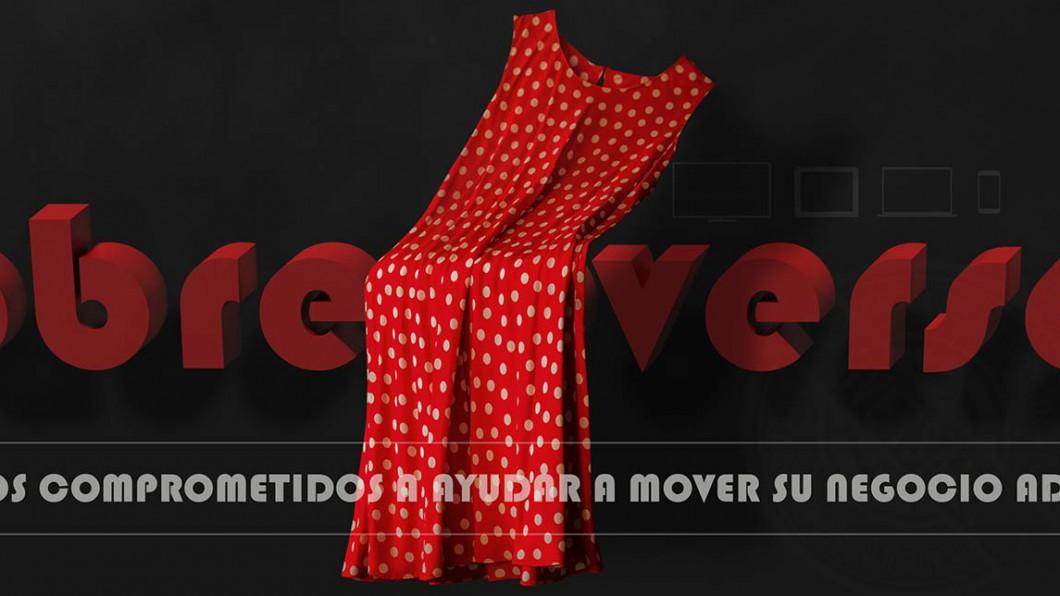 Vestido rojo y texto en 3D - Acerca Diseño Web - Oversal