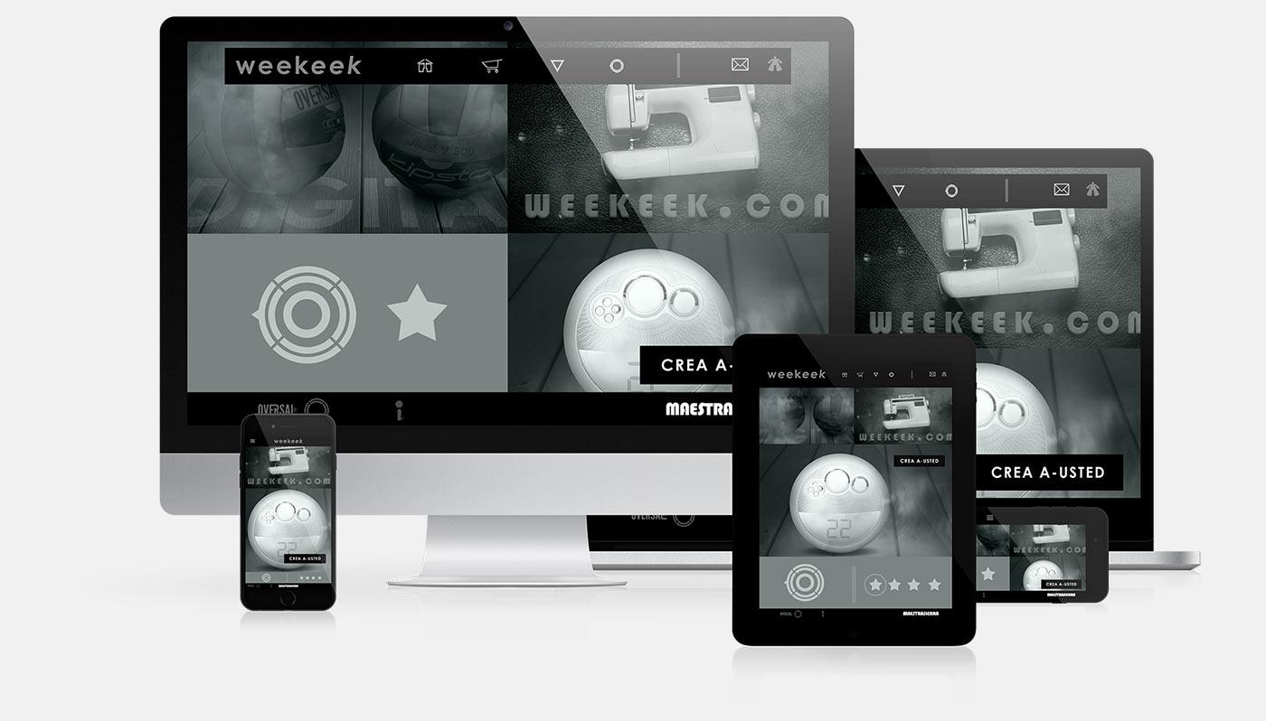 Weekeek responsive web design